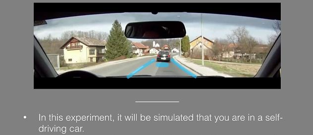 Dashcam videos for experiments in driving safety