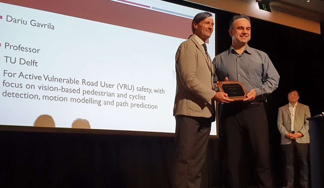 IEEE ITS Outstanding Research Award 2019: Dariu Gavrila