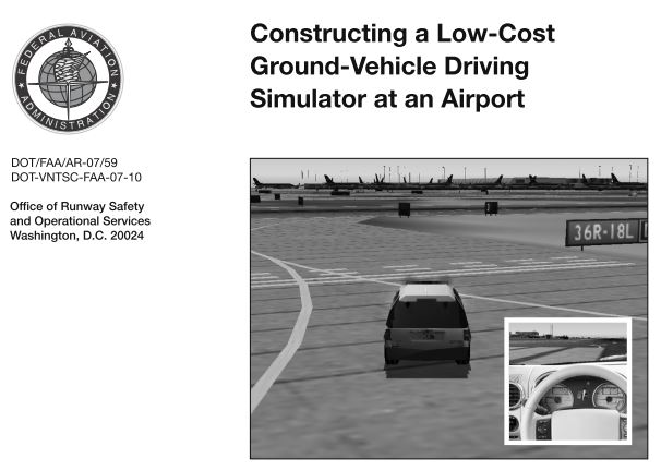 Driving simulator creation, customization, and operational support for US airports (CAK, CLT, HNL, MHT, PVD, RIC)