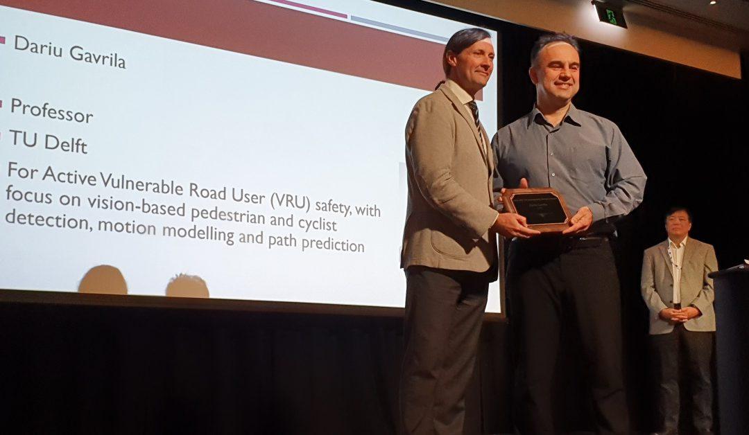 IEEE ITS Outstanding Research Award 2019: Dariu Gavrila