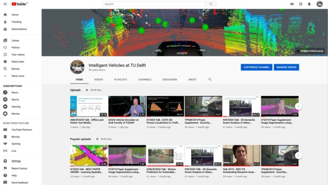 YouTube channel of IV Group @ TU Delft inaugurated